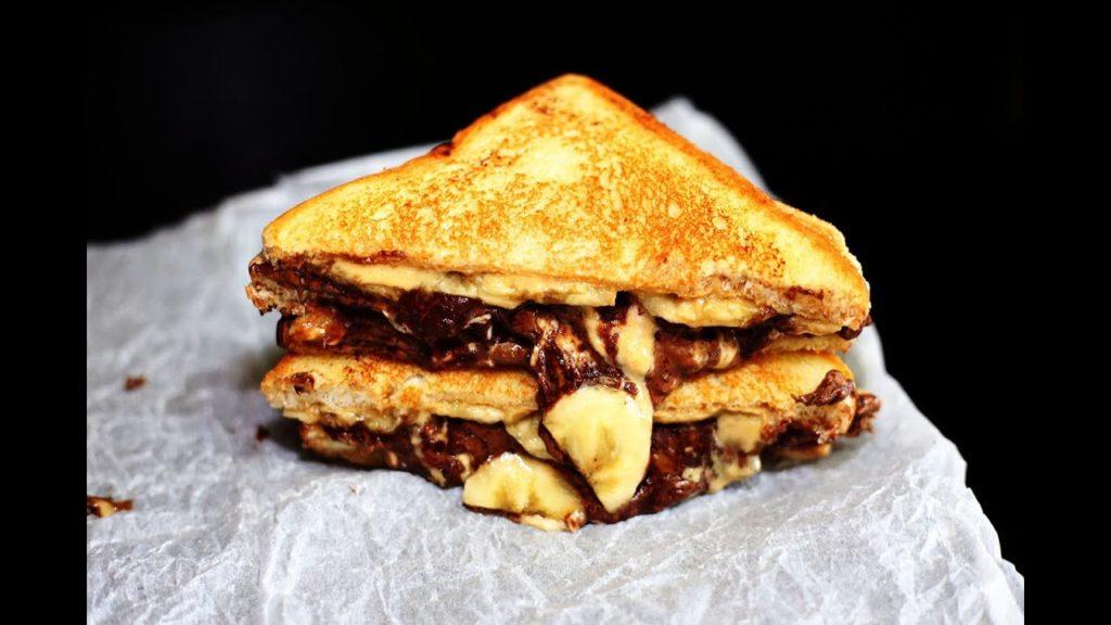 แซนด์วิชทอดไส้นูเทลล่ากล้วยหอม