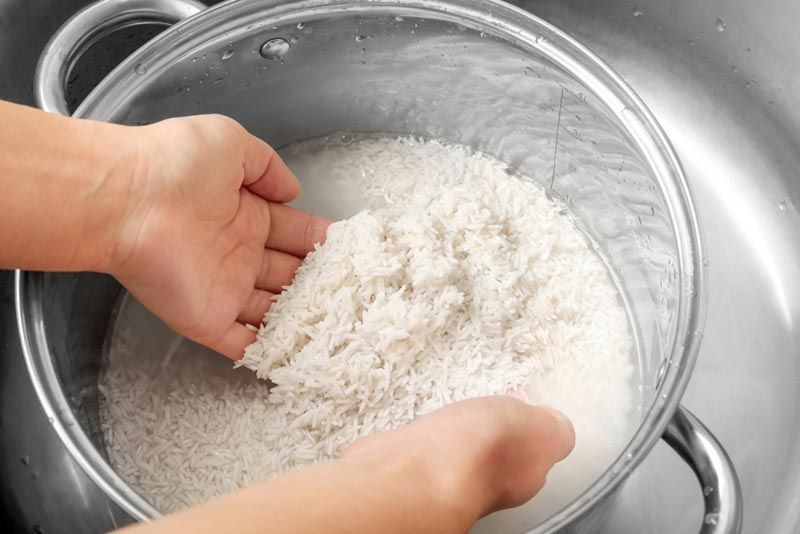 วิธีล้างผักผลไม้แบบล้างด้วยน้ำซาวข้าว