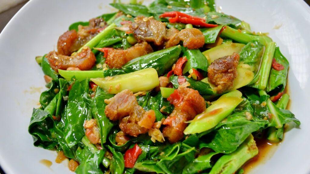 เมนูอาหารจากผักใบเขียว